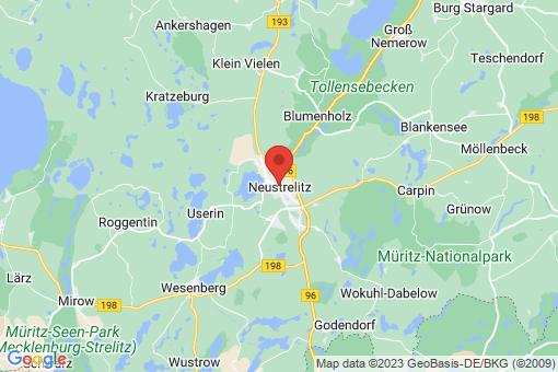 Karte Neustrelitz