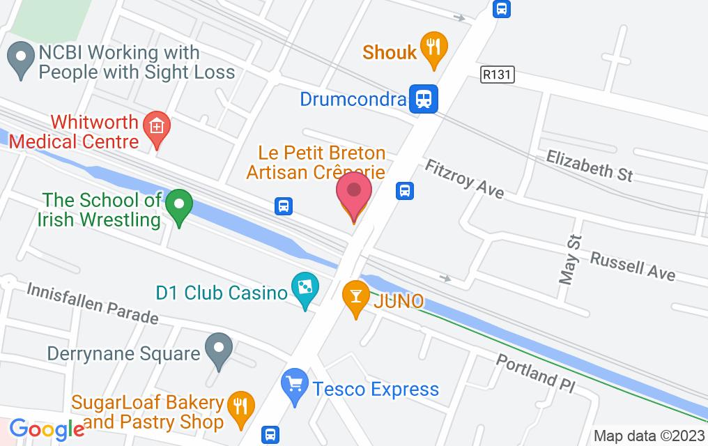Get directions to Le Petit Breton