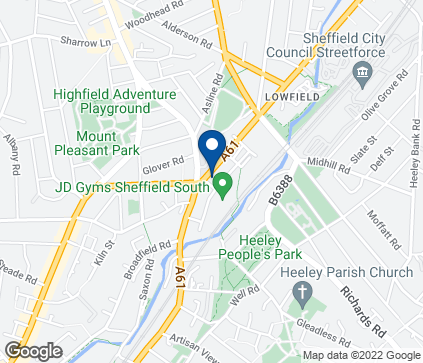 Map of Eyeland House in Heeley