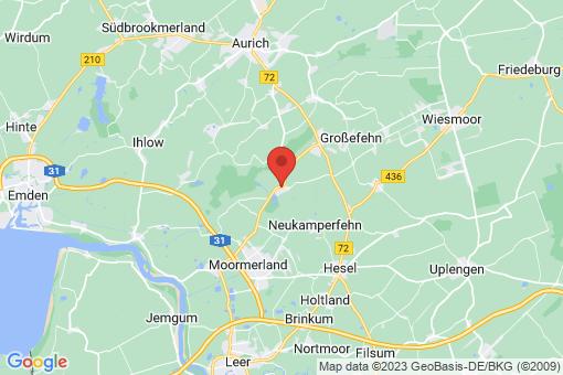 Karte Großefehn Timmel