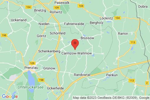 Karte Carmzow-Wallmow