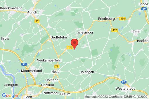 Karte Wiesmoor Zwischenbergen