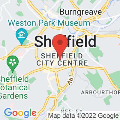 Map showing PLANT Sheffield