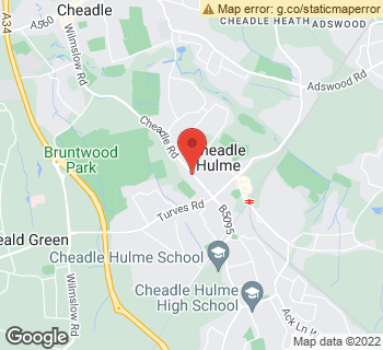 Map of Spreadboroughs at 74A Cheadle Road, Cheadle Hulme, Cheshire SK8 5DU