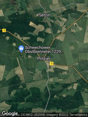Google Map of Pritzier bei Hagenow