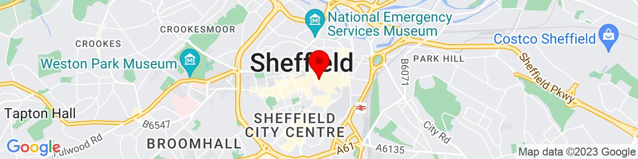 Google Map of 53.38112899999999, -1.47008500000004
