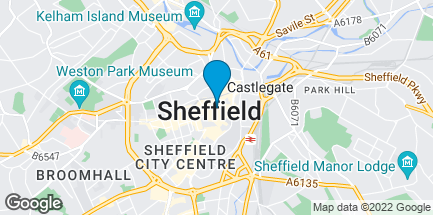 Map of 37 Fargate in Sheffield