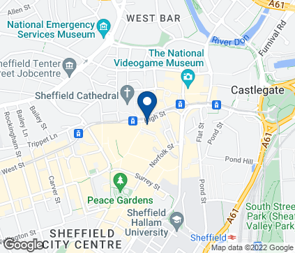 Map of 4-6 High Street in Sheffield