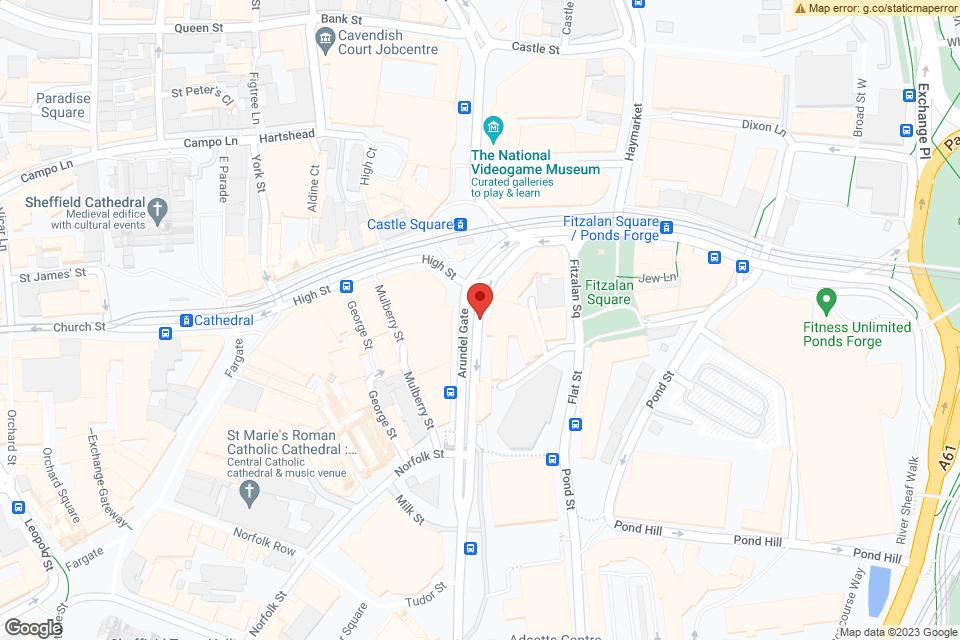 37-43 Arundel Gate, Sheffield, S1 2PN map