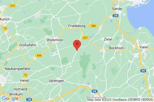 Karte Friedeburg Bentstreek