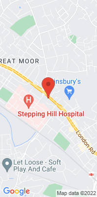 Map showing the location of the Stockport Hazel Grove monitoring site