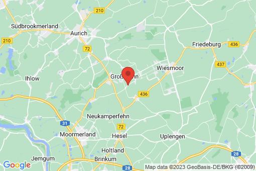 Karte Großefehn Spetzerfehn