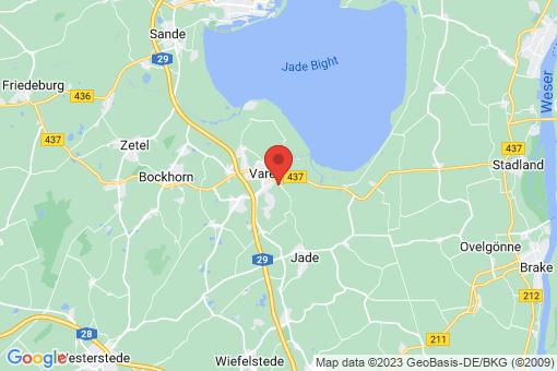 Karte Varel Streek