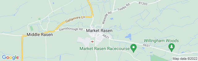Map Of Market Rasen