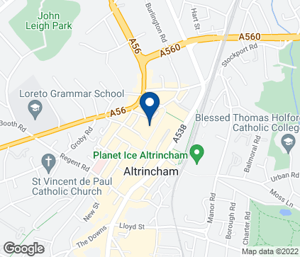 Map of 1 Stamford Quarter in Altrincham