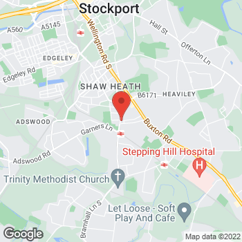 Map of Bargain Booze Bramhall Lane at 223-225 Bramhall Lane, Stockport, Cheshire SK2 6JD