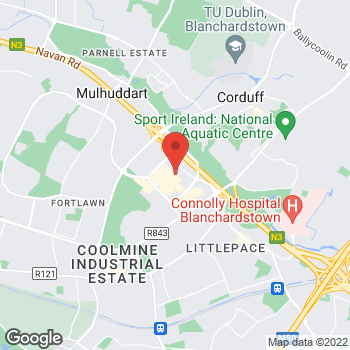 Map of Foot Locker Dublin at Blanchardstown, Dublin, Dublin D15 EW27