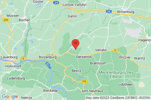 Karte Tessin bei Boizenburg