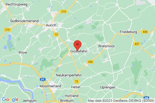 Karte Großefehn Ostgroßefehn