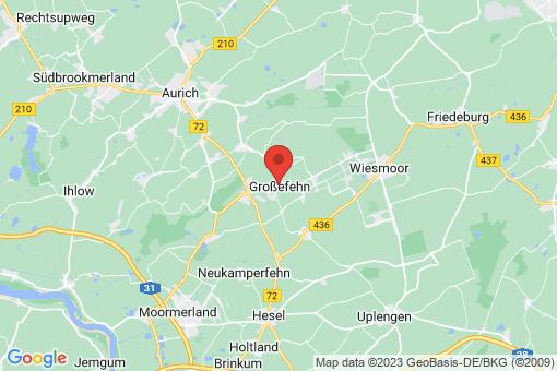 Karte Großefehn