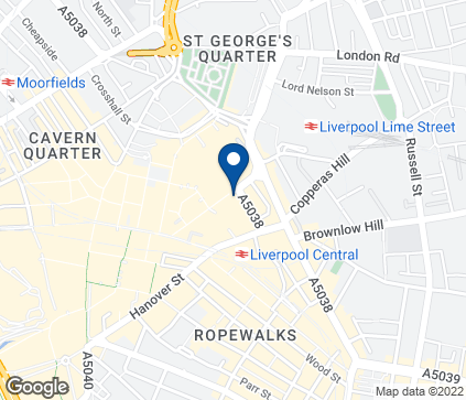 Map of 18 Great Charlotte Street in Liverpool