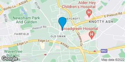 Map of 533 Prescot Road in Liverpool