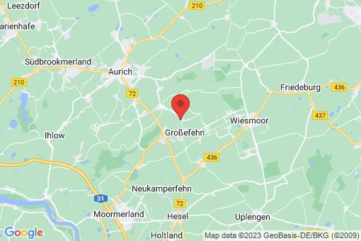 Karte Großefehn Aurich-Oldendorf