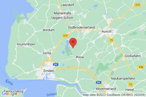Karte Südbrookmerland Forlitz-Blaukirchen