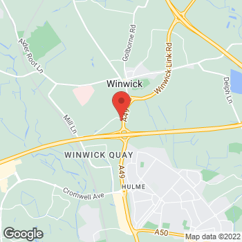 Map of Burger King at Winwick Quay, Newton Road, Warrington,  WA2 8RD