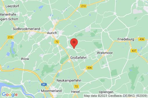 Karte Großefehn Wrisse