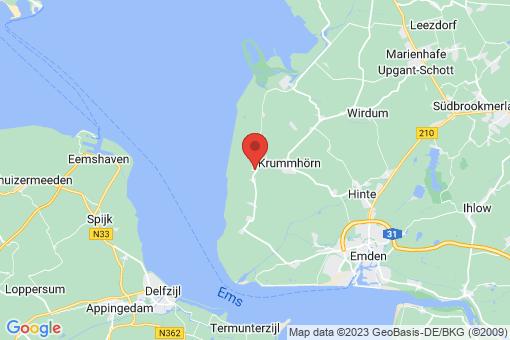 Karte Krummhörn Hamswehrum