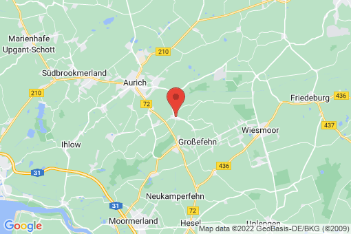 Karte Großefehn Holtrop