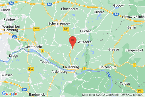 Karte Lütau
