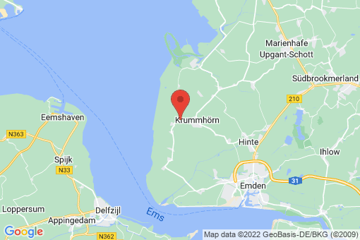 Karte Krummhörn Groothusen