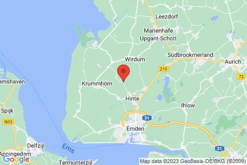 Karte Hinte Cirkwehrum