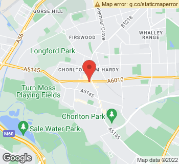 Map of Designer Flowers By Rodgers at 591 Wilbraham Road, Manchester, Lancashire M21 9AF