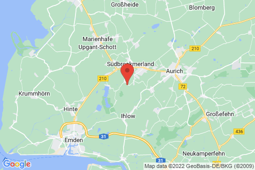 Karte Südbrookmerland Wiegboldsbur