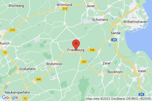 Karte Friedeburg Friedeburg