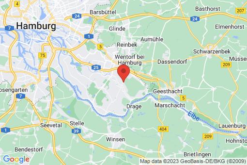 Karte Hamburg Curslack