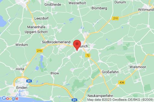 Karte Aurich Haxtum