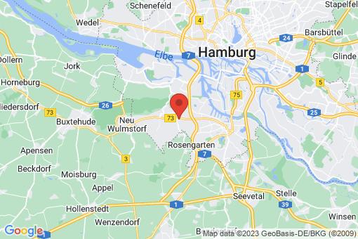 Karte Hamburg Hausbruch