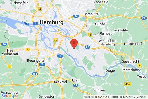 Karte Hamburg Ochsenwerder