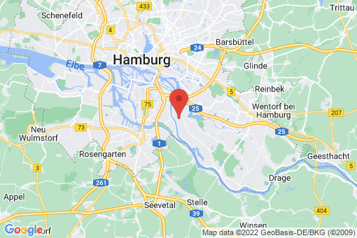 Karte Hamburg Spadenland