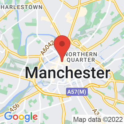 Map showing Rapha Manchester