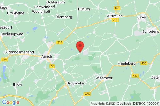 Karte Aurich Brockzetel