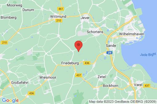 Karte Friedeburg Reepsholt, Hoheesche