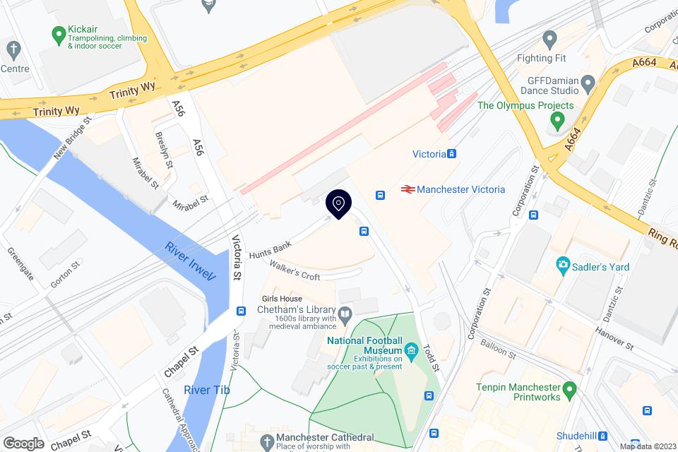 Hunts Bank, Manchester M3 1DA, Manchester, M3 1DA map