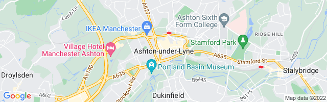 Map Of Ashton-under-Lyne