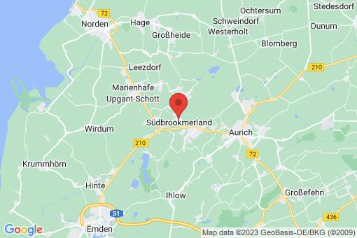 Karte Südbrookmerland Victorbur