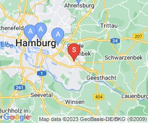 Karte für Bille-Bad Hamburg